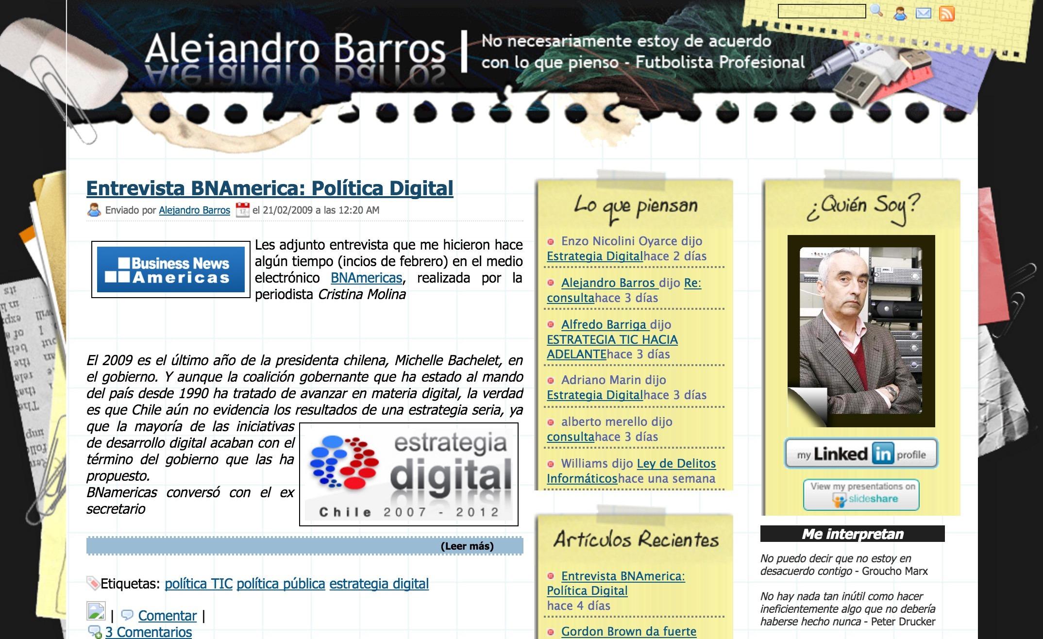 Cambio de Look! : El Escritorio de Alejandro Barros